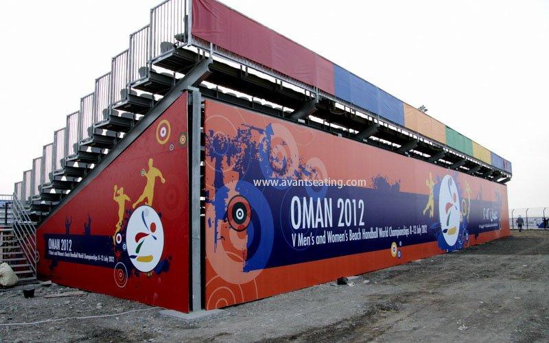 avant seating Beach handball world championship Muscat Oman 2 wm