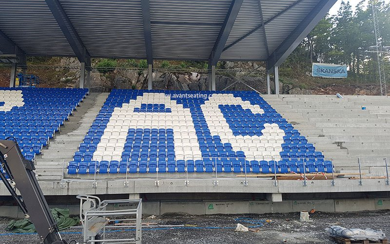 avant seating Bjønnes stadion Arendal Norway 1 wm