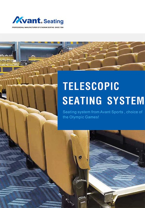 catalogue telescopic seating system