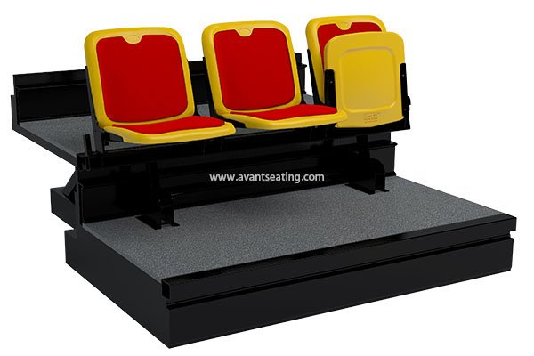 telescopic seating KK-CF H with Pads with watermark