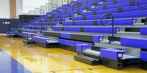 Retractable Bleachers In Gym