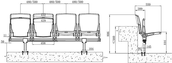 Yh Zf Dimensions Cad Drawing